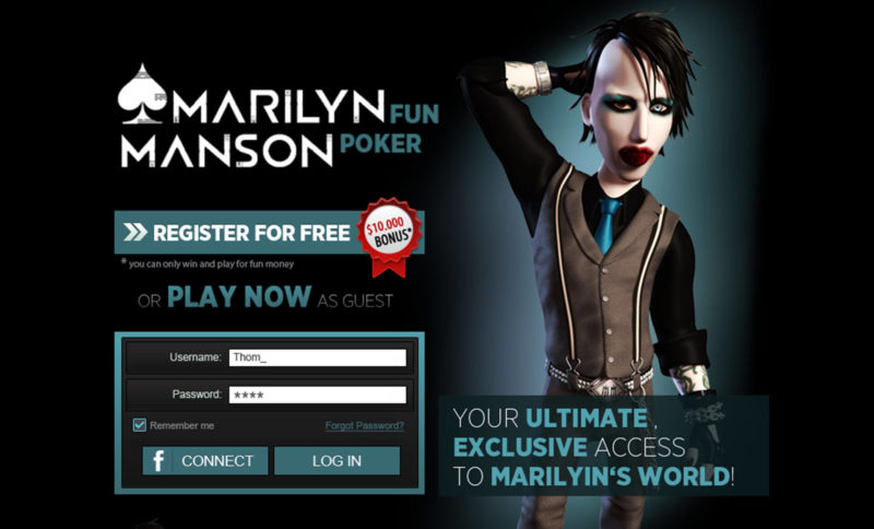 Marylin Manson Poker